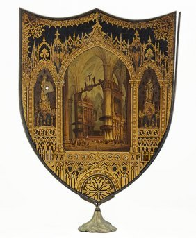 A 19th Century Continental Fire Screen.