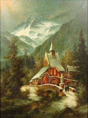 Ludwig Muninger (german, 1929-1997) Mountain Landscape