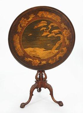 An Inlaid Mahogany Tea Table.