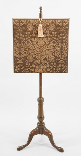 A Kittinger Mahogany Fire Screen.