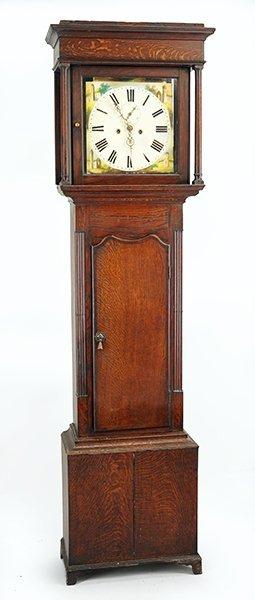 A Mid-19th Century English Tall Case Clock.