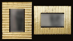 A Pair Of Gilt Glass Mirrors.