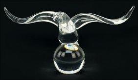 A Steuben Crystal Eagle.
