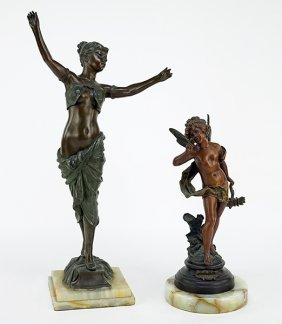 Two Patinated Metal Sculptures.