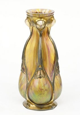 A Loetz Art Nouveau Glass Vase.