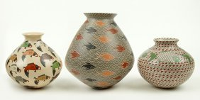 Three Southwestern Pottery Vessels.
