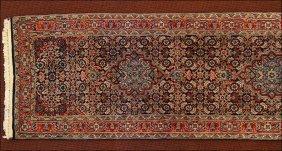 A Kashan Style Wool Runner.