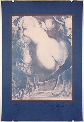 Ernst Fuchs (german, 1930-2015) Title Unknown.