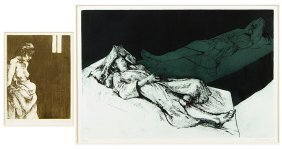 Sigmund Abeles (american, B.1934) Two Etchings.