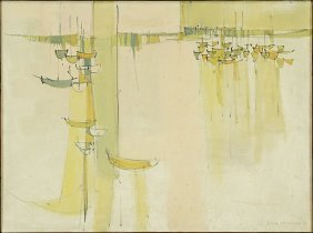 Charles Williams (american, 20th Century) Sailboats.