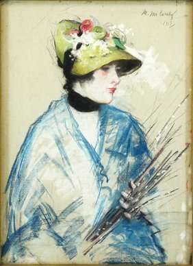 Artist Unknown (early 20th Century) Portrait Of Lady