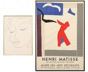 After Henri Matisse (french, 1869-1954) From: Faces.