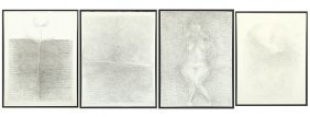 Gregory Masurovsky (french, 1929-2009) Four Drawings.