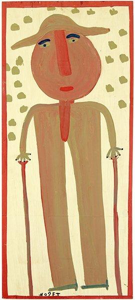 Mose Tollivar (american, 1920-2006) Figure With Walking