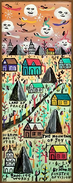 Howard Finster (american, 1916-2001) The Mountain Of