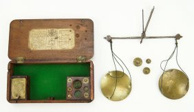 A Young & Son 19th Century Apothecary Scale Set.