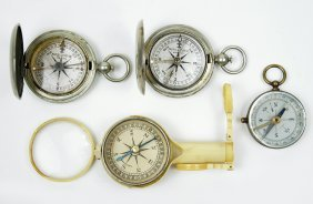 Two Keuffel & Esser Compasses.