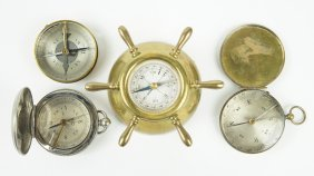 Four 20th Century French Compasses.