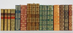 A Collection Of Leatherbound Books.