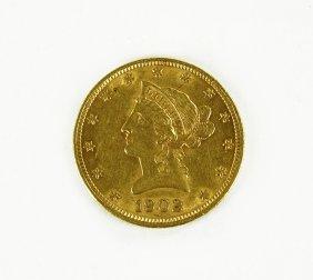 A 1902 Liberty Head Gold Coin.