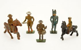 A Collection Of Barclay Manoil Toy Soldiers.