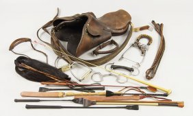 A Collection Of Equestrian Items.