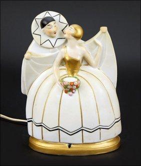 An Art Deco Perfume Lamp.