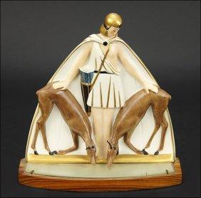 An Argilor Art Deco Perfume Lamp.