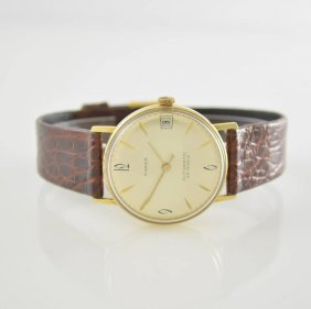 Anker 14k Yellow Gold Gents Wristwatch, 1960´s