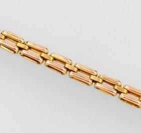 8 Kt Gold Bracelet, German Approx. 1900