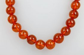 Long Necklace Made Of Amber,