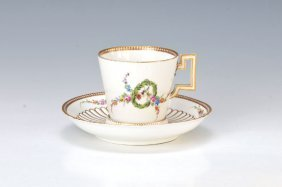 Rare Cup With Saucer, Meissen