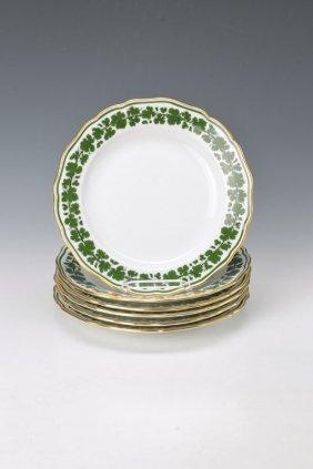 6 Flat Plates, Meissen, Around 1890
