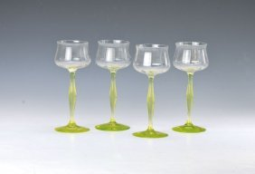 4 Wine Glasses, German