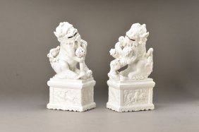 Pair Of Foo-dogs, China, 20th C.