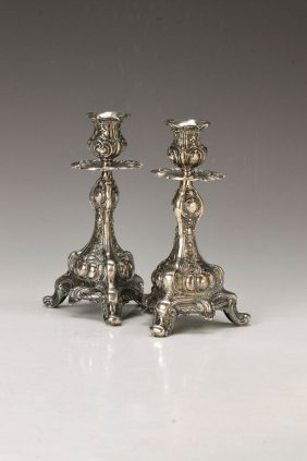 A Pair Of Candlesticks, France