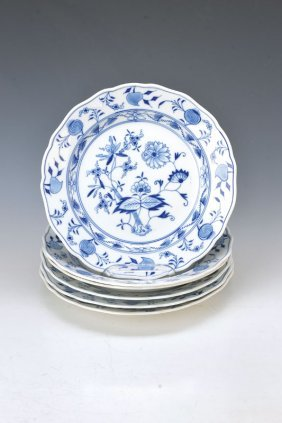 Six Plates, Meissen, Before 1882