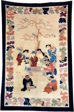 Chinese Beijing Rug (8 Immortals),