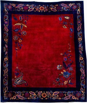 Chinese Beijing 'art-deco' Carpet,