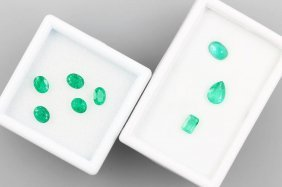 Lot 8 Loose Emeralds, Total Approx. 2.86 Ct,