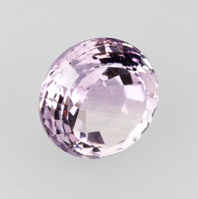 Round Amethyst, Approx. 84 Ct, Difficult Spiral Cut