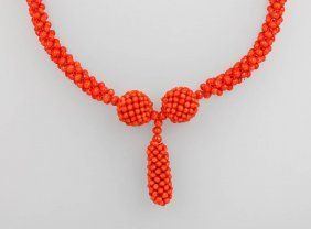 Necklace Made Of Coral, Italy Approx. 1890,