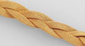 Braided 18 Kt Gold Bracelet