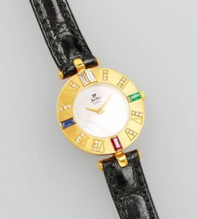 Jean Ploch Geneve Ladies' Wristwatch, Yg 750/000