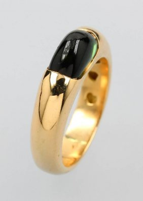 18 Kt Gold Ring With Tourmaline
