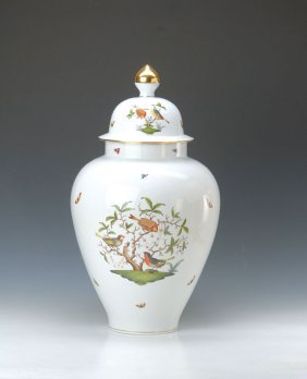 Large Lidded Vase, Herend, 20th C.