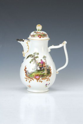 Tea Pot, Meissen, Around 1740
