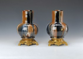 Pair Of Ceramic Vases, France