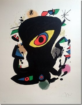Joan Miro, Hand Signed Lithograph, 1970