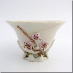 Libation Cup, China 18th, Porcelain